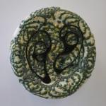 Anne Marie McIntyre_ untitled, black tracing_ Glazed Ceramic_ 2012