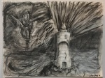 Colleen Derry_ Storm coming_ charcoal and chalk on paper_ 1993